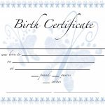 Birth Certificate Template Sample