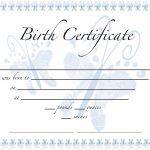 Birth Certificate Template Sample