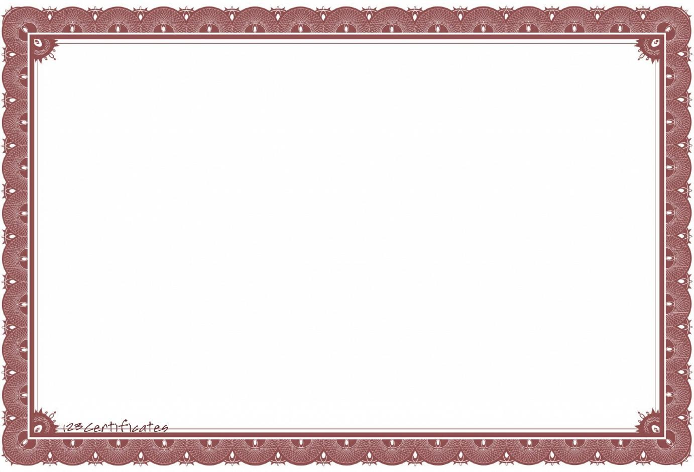 Certificate Border Template