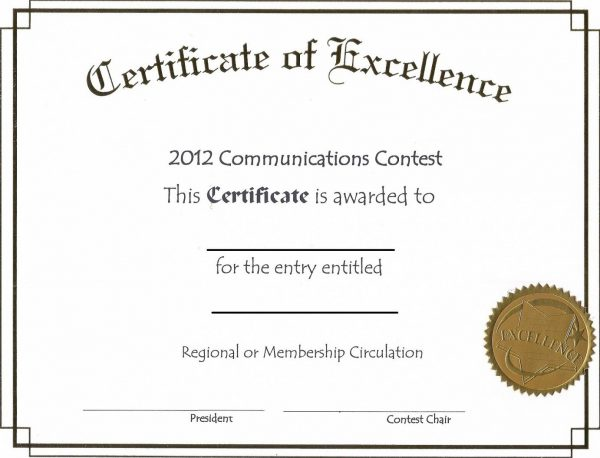 Online Certificate Template