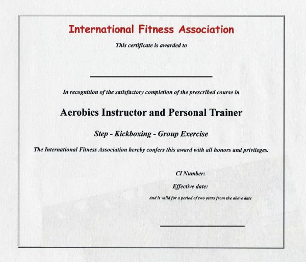 Personal Trainer Certificate Template
