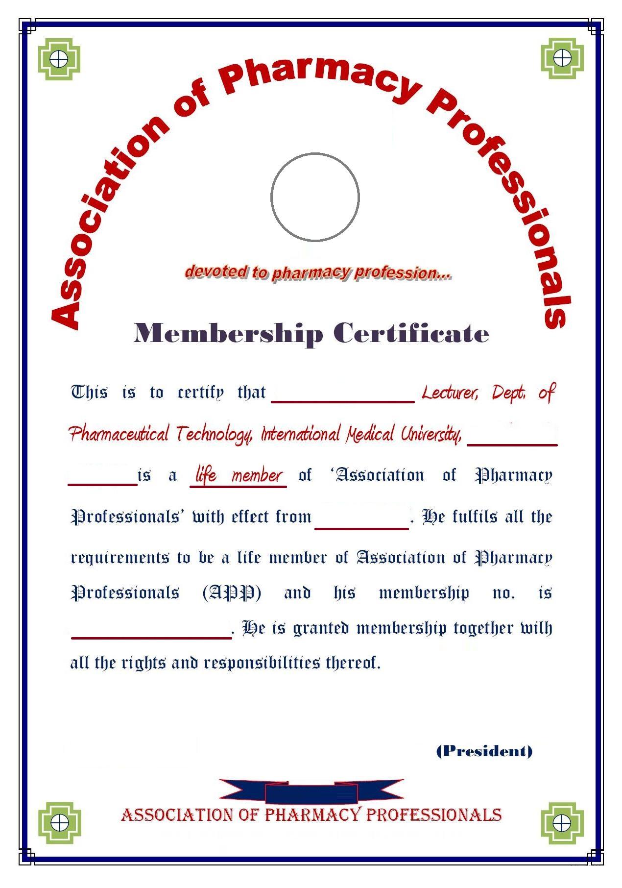 Pharmacy Technician Certificate Template